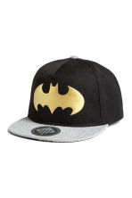 Cap with a print motif - Black/Batman - Kids | H&M CN 1
