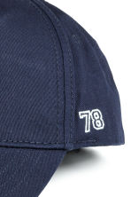 Cotton cap with embroidery - Dark blue - Kids | H&M CN 2