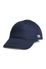 Cotton cap with embroidery - Dark blue - Kids | H&M CN 1