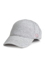 Cotton cap with embroidery - Grey marl - Kids | H&M CN 1