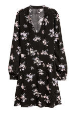Patterned dress - Black/Floral -  | H&M 2