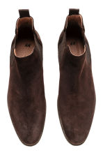 Suede Chelsea boots - Dark brown - Men | H&M CN 2