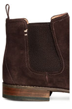 Suede Chelsea boots - Dark brown - Men | H&M 4