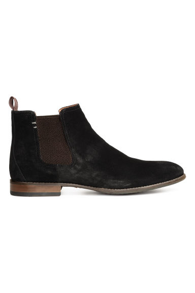 Suede Chelsea boots - Black - Men | H&M 1