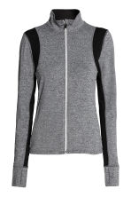 Running jacket - Dark grey marl - Ladies | H&M CN 2