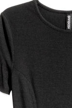 Ribbed jersey dress - Black - Ladies | H&M 3