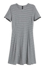 Abito in jersey a costine - Grigio/righine - DONNA | H&M IT 2