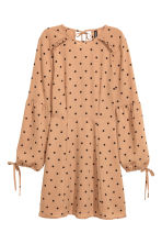Spotted dress - Beige/Spotted - Ladies | H&M CN 2