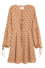 Spotted dress - Beige/Spotted - Ladies | H&M CN 3