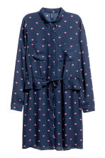 Shirt dress - Dark blue/Patterned - Ladies | H&M 2