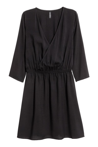 Robe à encolure en V - Noir -  | H&M BE