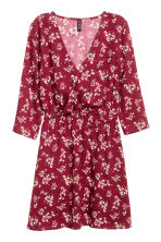 V-neck dress - Burgundy/Floral - Ladies | H&M 2