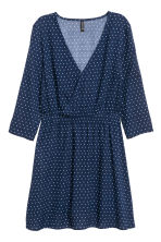 V-neck dress - Dark blue/Spotted - Ladies | H&M GB 2