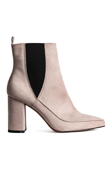 Ankle boots with pointed toes - Light grey - Ladies | H&M CN
