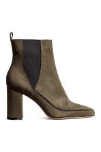 Ankle boots with pointed toes - Dark Khaki - Ladies | H&M CN 1