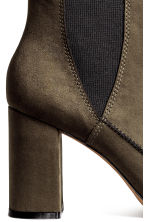 Ankle boots with pointed toes - Dark Khaki - Ladies | H&M CN 4