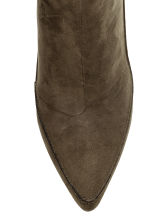 Ankle boots with pointed toes - Dark Khaki - Ladies | H&M CN 3