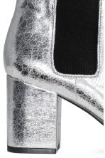 Metallic ankle boots - Silver - Ladies | H&M CN 5