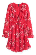 Wrap dress - Red/Floral - Ladies | H&M CN 2