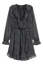 Wrap dress - Black/Spotted - Ladies | H&M CN 2