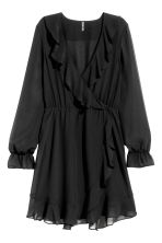 Wrap dress - Black - Ladies | H&M 2