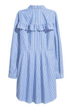 Shirt dress with a frill - White/Striped - Ladies | H&M CN 3
