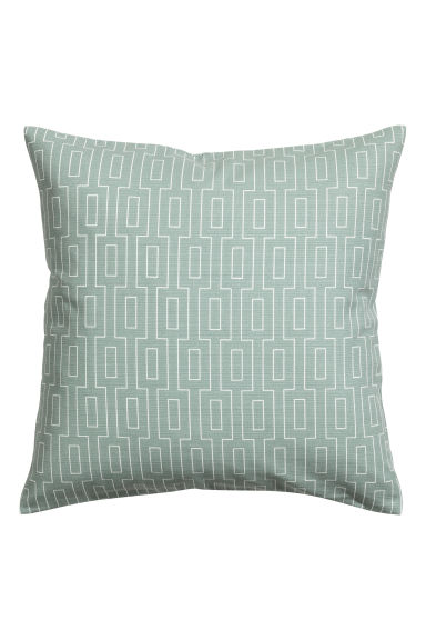 Copricuscino in cotone flammé - Verde nebbia - HOME | H&M IT 1