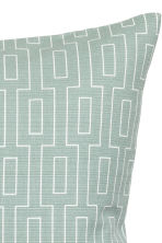Slub-weave cushion cover - Dusky green - Home All | H&M CN 2
