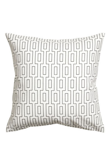 Copricuscino in cotone flammé - Bianco - HOME | H&M IT 1