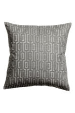Slub-weave cushion cover - Grey - Home All | H&M CN 1