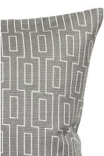 Slub-weave cushion cover - Grey - Home All | H&M CN 2