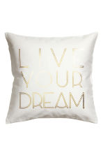 Text-print cushion cover - White - Home All | H&M CN 1