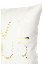 Text-print cushion cover - White - Home All | H&M CN 2