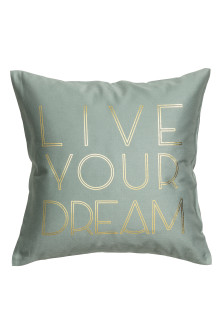 Text-print cushion cover