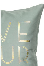 Text-print cushion cover - Dusky green - Home All | H&M CN 2