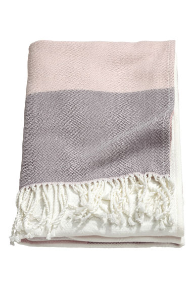 Block-coloured blanket - Dusky pink - Home All | H&M CN