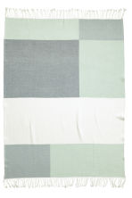 Block-coloured blanket - Dusky green - Home All | H&M CN 2