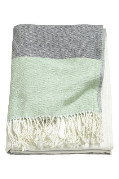 Block-coloured blanket - Dusky green - Home All | H&M CN 1