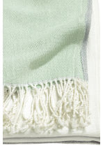 Block-coloured blanket - Dusky green - Home All | H&M CN 3