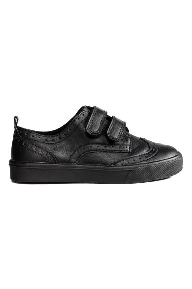 Brogue-patterned trainers - Black - Kids | H&M 1
