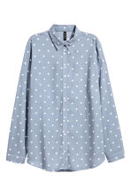 Viscose shirt - Grey-blue/Spotted - Ladies | H&M 2