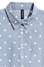 Viscose shirt - Grey-blue/Spotted - Ladies | H&M 3