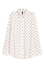 Viscose shirt - White/Heart - Ladies | H&M CN 2