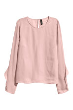 Blouse with frills - Old rose - Ladies | H&M 2