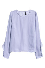 Blouse with frills - Lavender - Ladies | H&M 2
