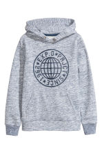 Printed hooded top - Blue marl - Kids | H&M 2