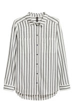 Cotton shirt - White/Black striped - Ladies | H&M 2