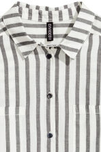 Cotton shirt - White/Black striped - Ladies | H&M 3