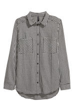 Cotton shirt - Black/White - Ladies | H&M CN 2