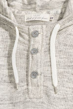 Knitted hooded jumper - Light grey marl - Men | H&M 3